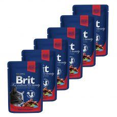 Kapsička BRIT Premium Cat Beef Stew & Peas 6 x 100 g