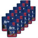 Kapsička BRIT Premium Cat Beef Stew & Peas 12 x 100 g
