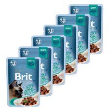 Kapsička BRIT Premium Cat Delicate Fillets in Gravy with Beef 6 x 85 g