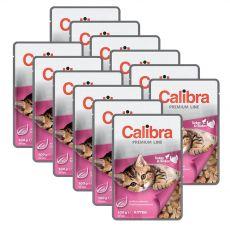 CALIBRA Cat Kitten kuřecí a krůtí kousky v omáčce 12 x 100 g