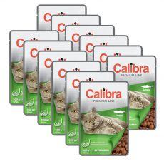 CALIBRA Cat Adult Sterilised kousky s lososem v omáčce 12 x 100 g
