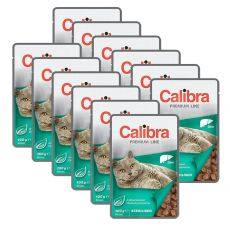 CALIBRA Cat Adult Sterilised kousky s játry v omáčce 12 x 100 g