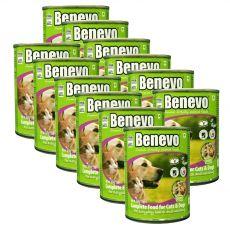 Benevo Duo kompletní krmivo pro kočky a psy 12 x 369 g