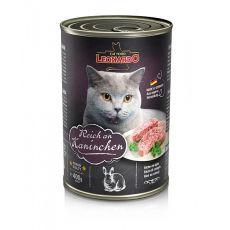 Konzerva pro kočku Leonardo - Králík 400 g