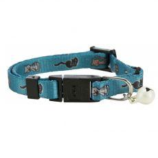 Obojek pro kočky s motivem, světle modrý – 15–20 cm