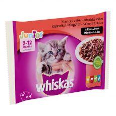 Whiskas Junior Klasický výběr ve šťávě 4 x 100 g