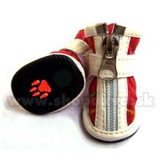 Boty pro psa na zip červené (4 ks) - vel. 3