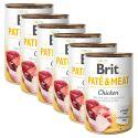 Konzerva Brit Paté & Meat Chicken 6 x 400 g
