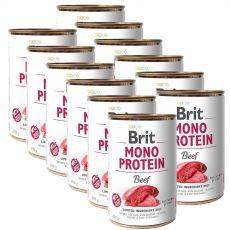 Konzerva Brit Mono Protein Beef, 12 x 400 g