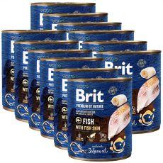 Konzerva Brit premium by Nature Fish & Fish Skin 12 x 800 g