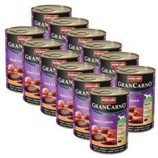 Konzerva GranCarno Original Adult hovězí maso a jehněčí - 12 x 400 g