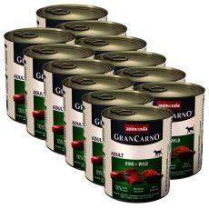 Konzerva GranCarno Original Adult hovězí maso a zvěřina - 12 x 800 g