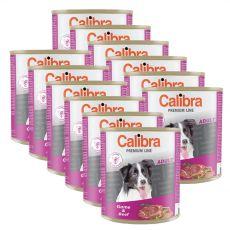 Konzerva CALIBRA Premium Adult – zvěřina a hovězí, 12 x 800 g