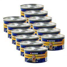 Konzerva ONTARIO Adult pro psa, kuřecí kousky + žaludky, 12 x 200 g
