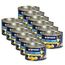 Konzerva ONTARIO Multi Fish a lososový olej – 12 x 200 g
