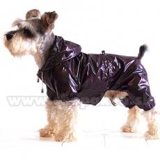 Pláštěnka pro psa dvojvrstvá - fialovohnědá, XS