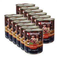 Konzerva ONTARIO Culinary Calf Ragout with Duck 12 x 800 g