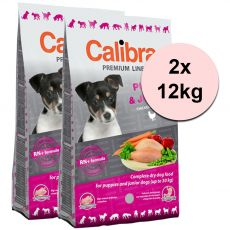 CALIBRA Dog Premium Line PUPPY & JUNIOR 2 x 12 kg
