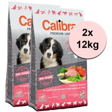 CALIBRA Dog Premium Line JUNIOR LARGE 2 x 12 kg