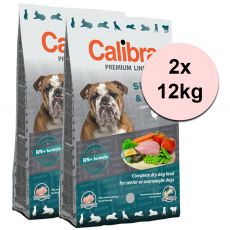 CALIBRA Dog Premium Line SENIOR & LIGHT 2 x 12 kg