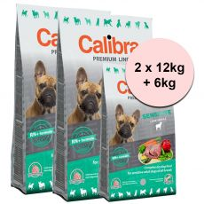 CALIBRA Dog Premium Line SENSITIVE 2 x 12kg + 6kg