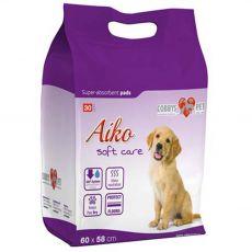 AIKO Soft Care podložky pro psy 30 ks – 60 x 58 cm