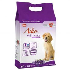 AIKO Soft Care levandulové podložky pro psy 10 ks – 60 x 60 cm