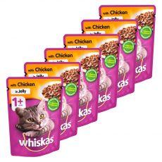 Whiskas kuřecí kapsička v želé 6 x 100 g
