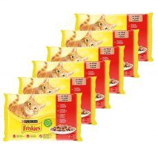 Kapsičky Friskies Cat kuře, hovězí, jehněčí a kachna ve šťávě 6 x (4 x 85 g)