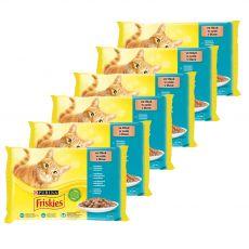 Kapsičky Friskies Cat losos, tuňák, sardinky a treska ve šťávě 6 x (4 x 85 g)