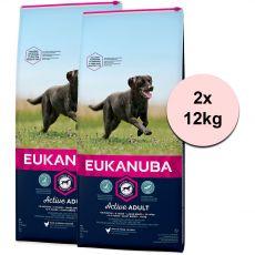 Eukanuba Active Adult Large Breed 2 x 12 kg