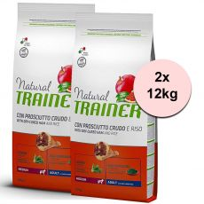 TRAINER Natural Medium Adult sušená šunka 2 x 12 kg