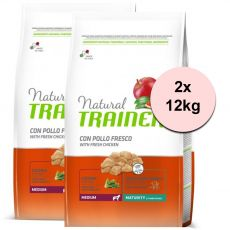 Trainer Natural Medium Maturity Fresh Chicken 2 x 12 kg