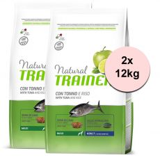 TRAINER Natural Maxi Adult Tuna and Rice 2 x 12 kg