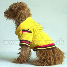 Svetřík s kapucí pro psa - žlutý, M