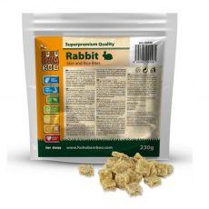 HUHU Bamboo kousky králičí kůže s rýží 230 g