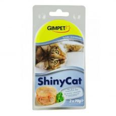 Gimpet ShinyCat tuňák a krevety 2 x 70 g