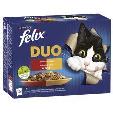 Kapsičky FELIX Fantastic DUO, lahodný výběr v želé 12 x 85 g
