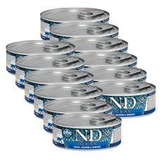 Farmina N&D cat Trout, Salmon & Shrimps konzerva 12 x 80 g