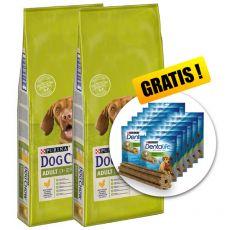 PURINA DOG CHOW ADULT Chicken 2 x 14 kg+ DÁREK