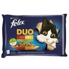 Kapsičky FELIX Fantastic DUO, lahodný výběr se zeleninou v želé 4 x 85 g