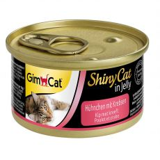GimCat ShinyCat kuře + krab 70 g