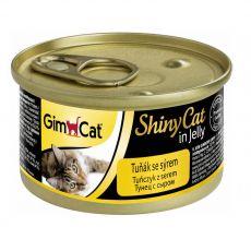 GimCat ShinyCat tuňák + sýr 70 g