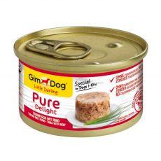 GimDog Pure Delight tuňák + hovězí 85 g