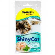 GimCat ShinyCat kuře + krevety 2 x 70 g
