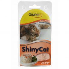 GimCat ShinyCat kuře + papája 2 x 70 g