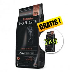 Fitmin dog For Life Beef & Rice 14 + 2 kg GRATIS