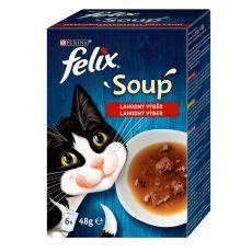 FELIX Soup Lahodný výběr s hovězím, s kuřetem, s jehněčím 6 x 48 g