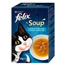 FELIX Soup Lahodný výběr s treskou, s tuňákem, s platýsem 6 x 48 g