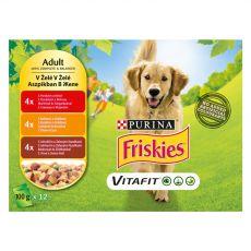 FRISKIES VITAFIT výběr s kuřetem, s hovězím a jehněčím v želé 12 x 100 g
